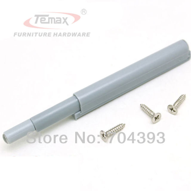 10pcs Plastic Drawer Stops Grey Push to Open System Door Catch Closer Damper Cabinet