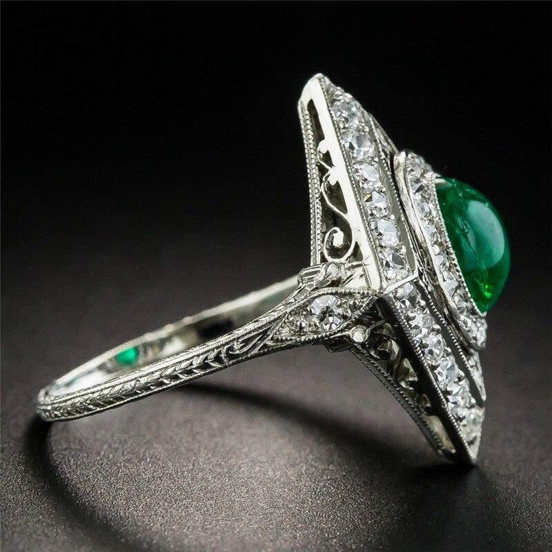 300ed94a4d4c JUNXIN Geometry anillos grandes para Mujeres Hombres 925 Plata llena ...