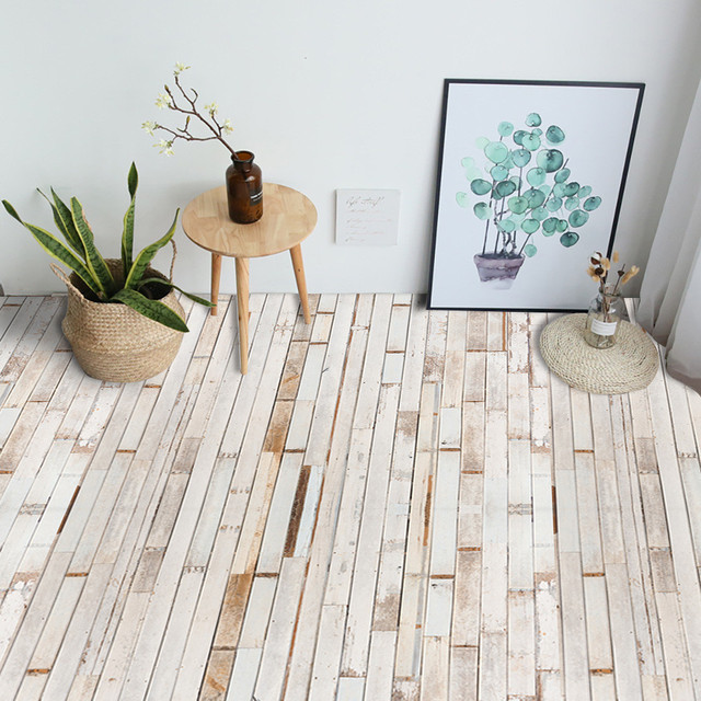 Floor Sticker Self Adhesive Floor Tile Wood Sticker Diy Living Room