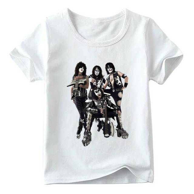 07f51dd4d2c68 US $5.81 45% OFF|Children Stormtroopers Fan Kiss Rock Band Print Funny T  shirt Boys and Girls Summer White Tops Kids Casual T shirt,HKP464-in  T-Shirts ...