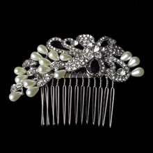 Top Quality 100% Handmade Pearl Bridal Hair Combs Jewelry Wedding Accessories Free Shippin