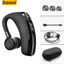 DAONO V9 громкой связи Бизнес Bluetooth наушники с микрофоном голос Управление Беспроводной Bluetooth гарнитура для вождения Шум отмена