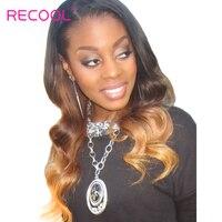 Recool Ombre Brazilian Hair Bundles Body Wave 1b 4 27 3 Tone Non Remy Hair Extensions
