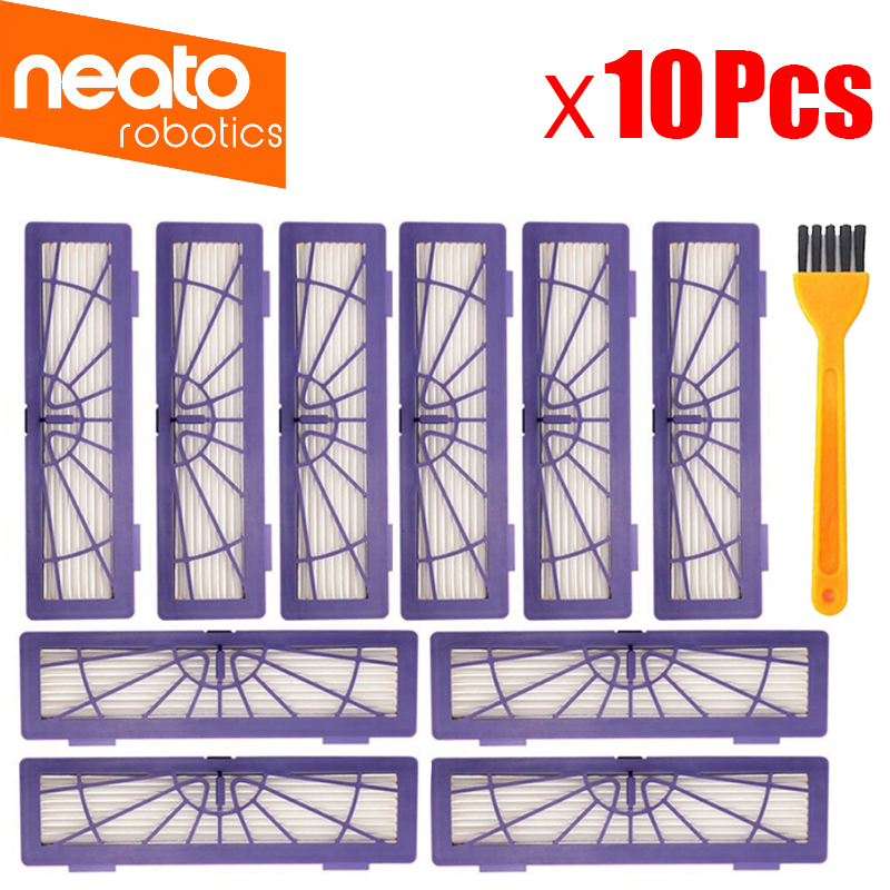 10Pcs Replacement HEPA Dust Filter For Neato BotVac 70e,75 80 85 D5 Series Robotic Vacuum Cleaners Robot Parts