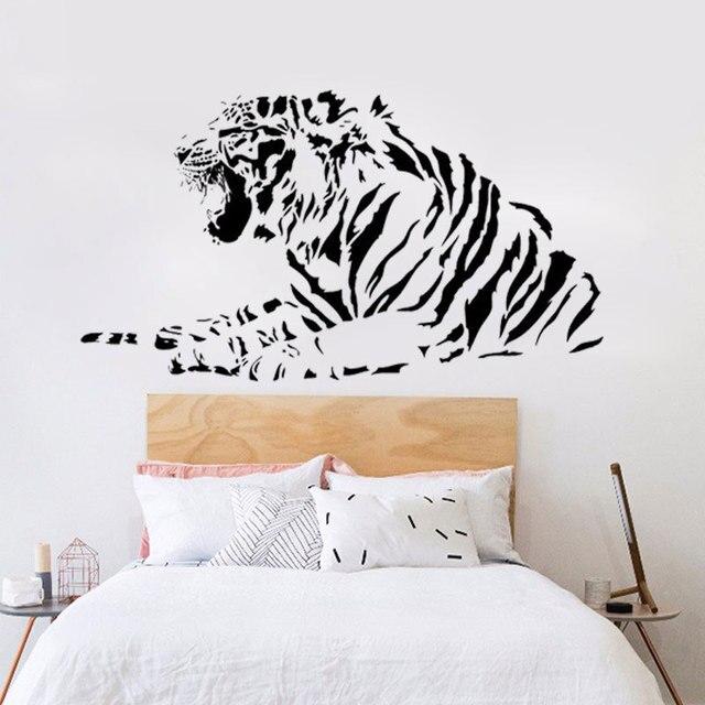 Ringhio Tigre Adesivi Murali Camera Da Letto Decorativa Animale ...