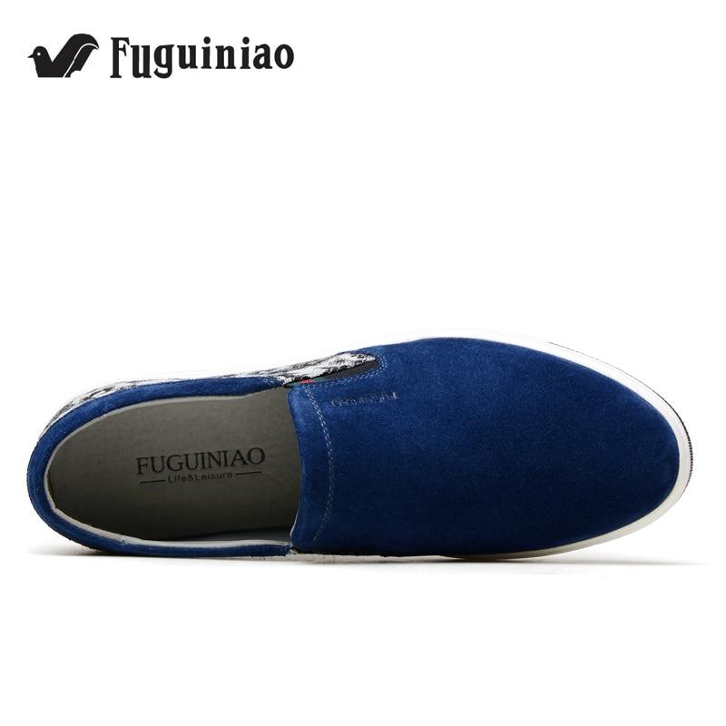 Darmowa dostawa! FUGUINIAO krowa Suede mężczyźni płaskie buty/mokasyny/rekreacyjne buty/buty do jazdy samochodem/kolor niebieski, szary/rozmiar 38 44 w Męskie nieformalne buty od Buty na  Grupa 3
