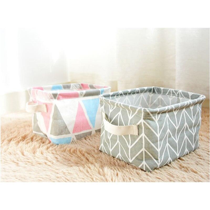 Многофункциональный холст простой кухонный шкаф одежда складной хранения корзин организации рабочего офисные корзина для белья