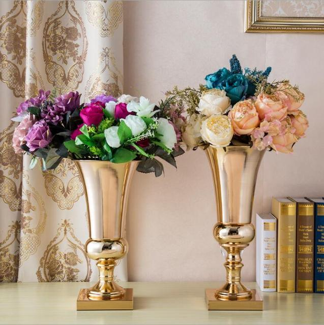 flower vases for wedding large diamete tabletop metal vase decorative flowers 4218