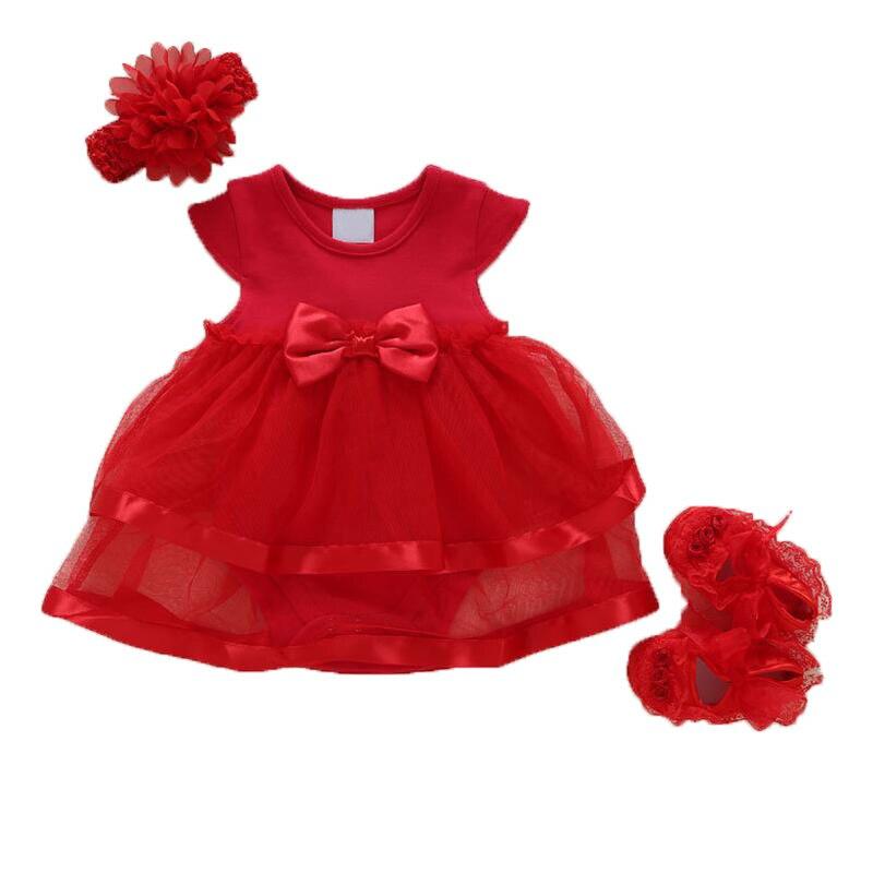 Детская одежда для девочек Одежда для новорожденных платье для маленькой девочки летний ребенок принцесса Платье с пряжей костюм платье ...