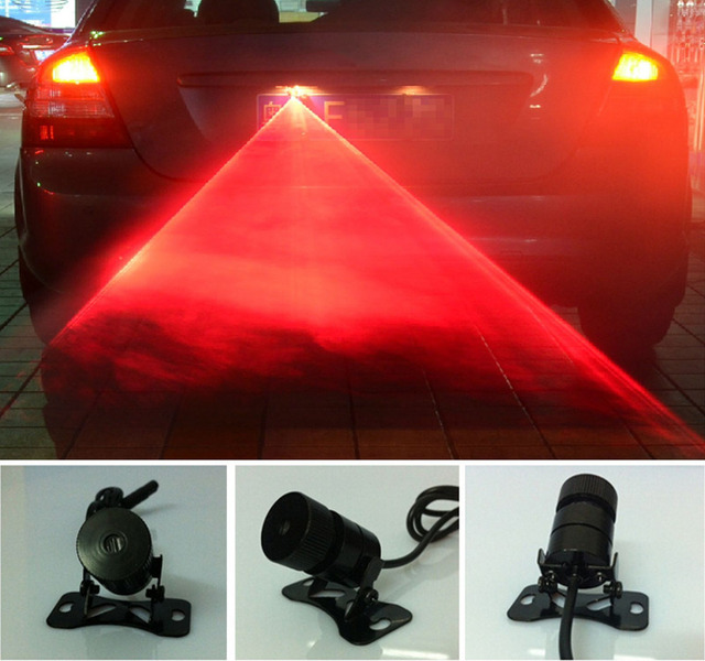 Tail Fog Rain Driving Laser Beam Anti Rear End Crash Caution Light