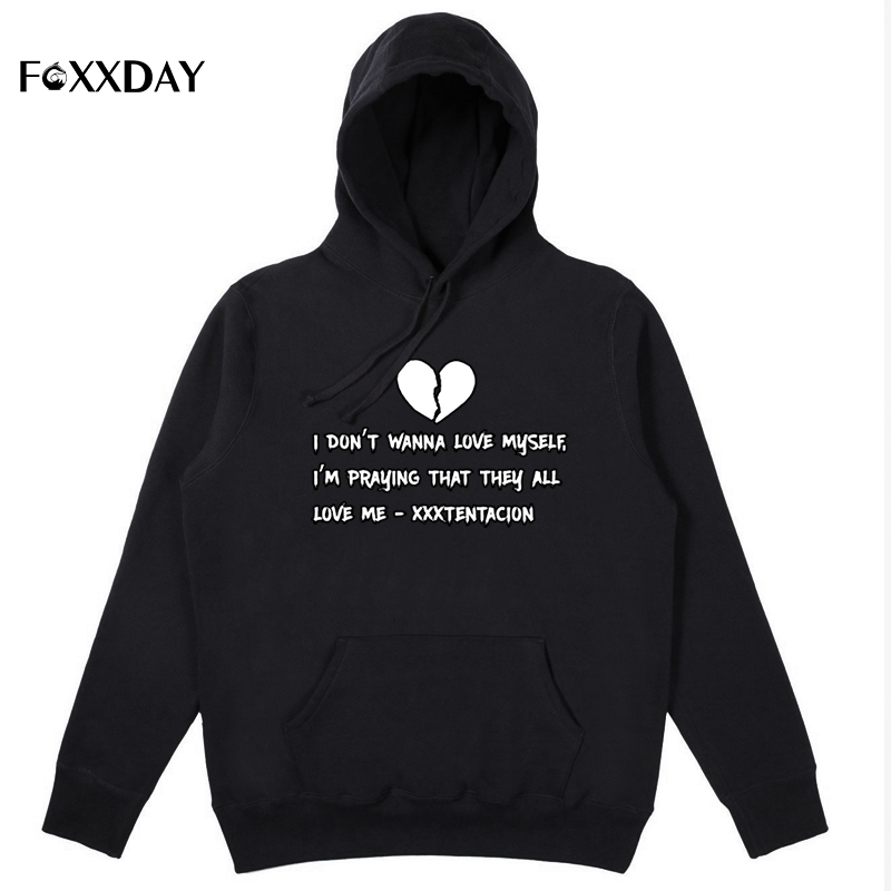FOXXDAY Hot Sale XXXTentacion Hoodie Sweatshirt unisex Casual Pullover Streetwear  Harajuku streetwear Hip-Hop Autumn winter men