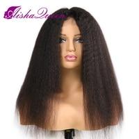 Aisha queen Full Lace натуральные волосы парики странный прямо бразильский Волосы remy прямо на Для женщин отбеленные узлы