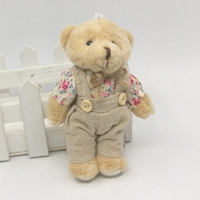online shop couple bear rabbit plush toys 2017 floral cloth teddy
