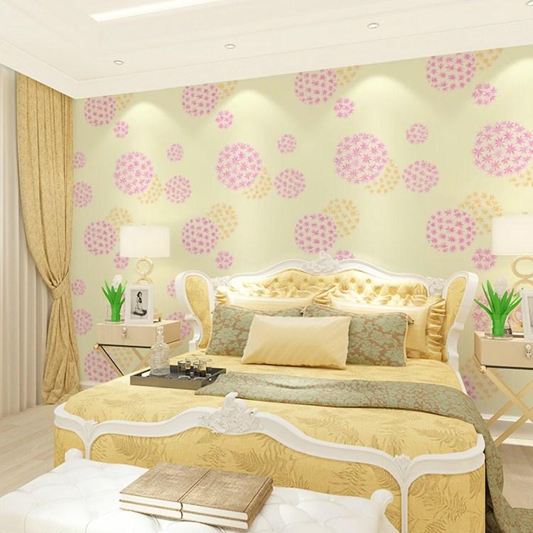 bedroom flower modern pink wall tv background sofa bump children 3d murals wallpapers