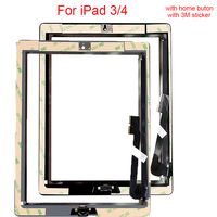 1pcs Touch Screen For Ipad3 A1416 A1430 A1403 For IPad 4 A1458 A1459 A1460 Digitizer Replacement