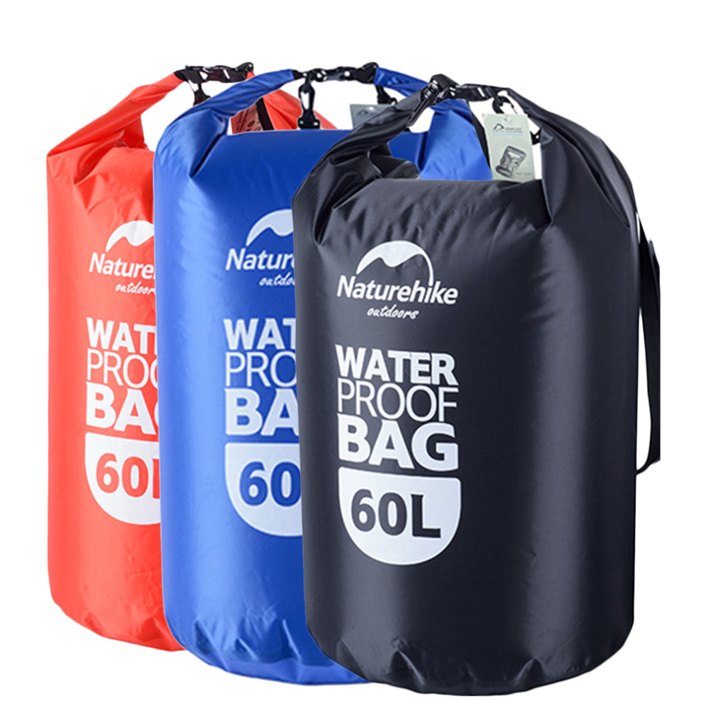 Naturehike 60L Outdoor Multifunction Waterproof Drawstring Storage Stuff Sack Dry Bag Travel High Quality косметичка outdoor research lightweight dry sack 15
