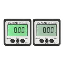 Прецизионный цифровой угломер и уровень коробки угол искатель электронный уровень измерительные инструменты