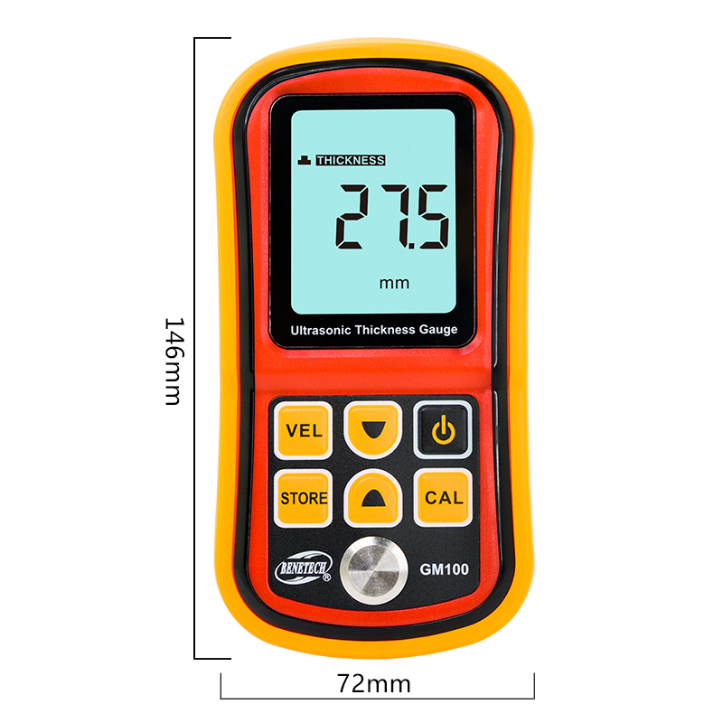Tools : Digital Ultrasonic Thickness Gauge 1 2-220mm Steel Width Testing Monitor Tester Meter Sound Velocity Meter Measuring Instrument