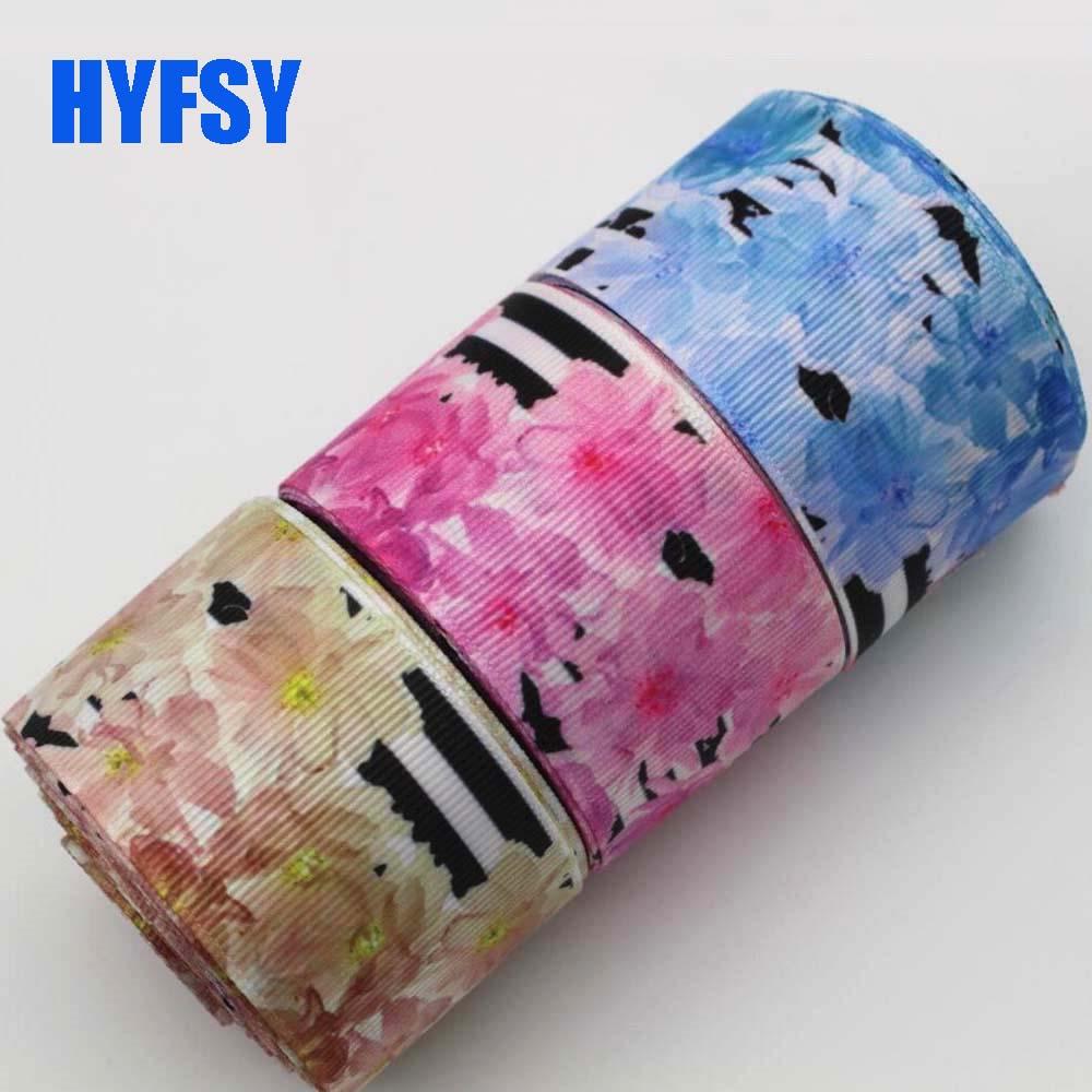 Hyfsy 10023 25 38 мм большой цветок лента 10 метров Сделай Сам волосы лук материалы подарочная упаковка свадебные украшения Grosgrain ленты