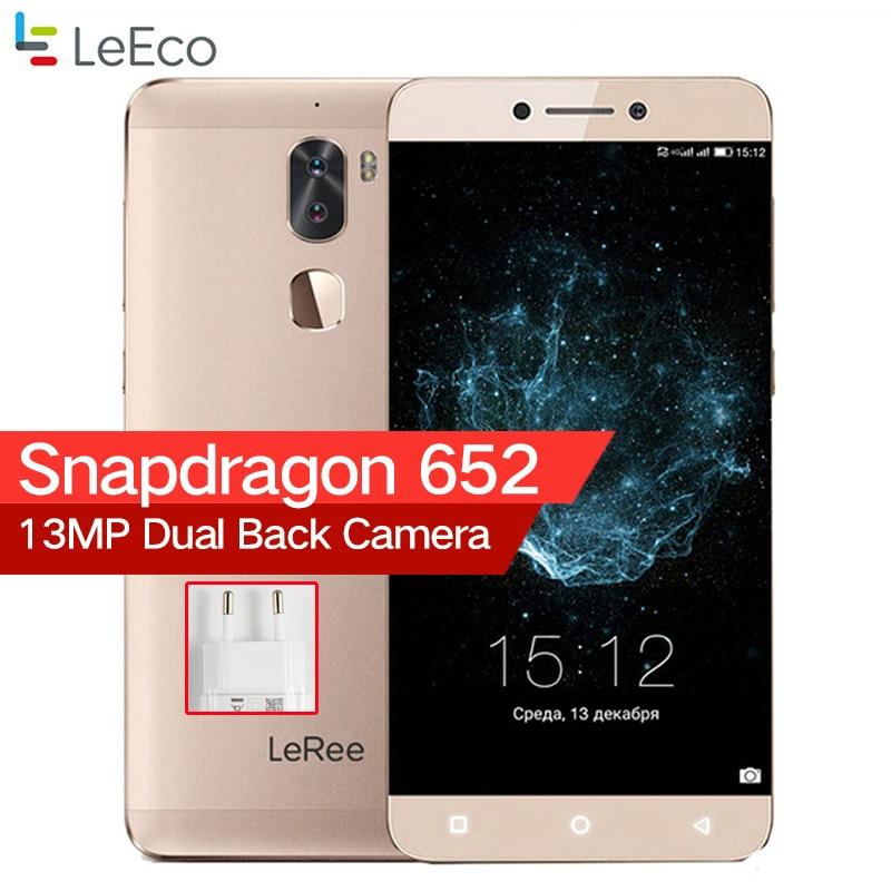 LeEco Letv LeRee Le 3 Frais 1 3G RAM 32G ROM 4000 mAh Snapdragon 652 Octa base Android 6.0 D'empreintes Digitales Double Caméra Téléphone Portable