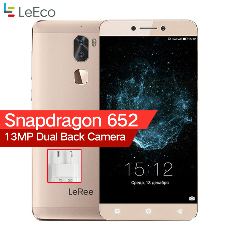 LeEco Letv LeRee Le 3 Kühlen 1 Le3 3g RAM 32g ROM 4000 mah Snapdragon 652 Octa Core android 6.0 Fingerprint Dual Kamera Handy