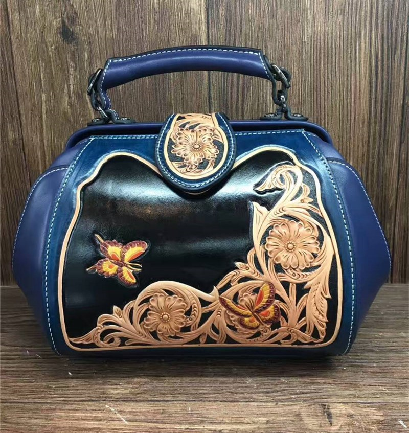 hand carve italian vegetable tanned genuine leather woman shoulder bags women leather handbags hand carved italian vegetable tanned cowhide fashion leather bags handbags women