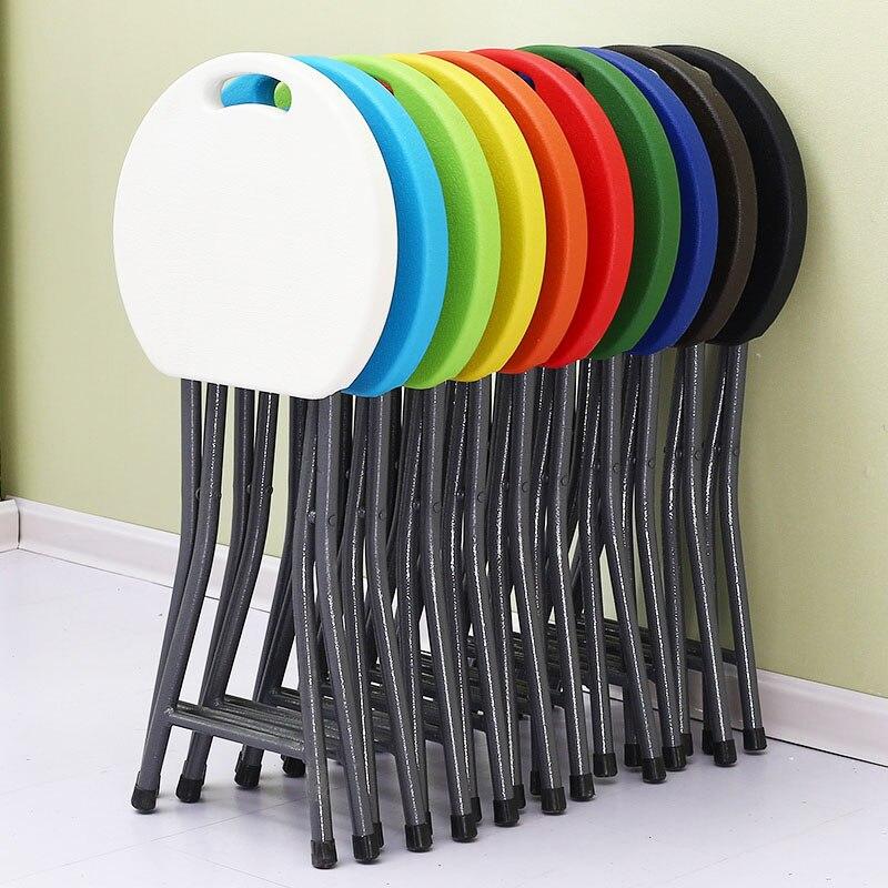 25%, Kunststoff Klapp Hocker Stuhl Haus Esstisch Stuhl Erwachsene Hohe Hocker Einfache Tragbare Kreative Mazar Hocker Um Das KöRpergewicht Zu Reduzieren Und Das Leben Zu VerläNgern
