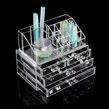 Ящик прозрачный акриловый косметический организатор макияж Чехол для хранения ювелирных изделий держатель Box 640111