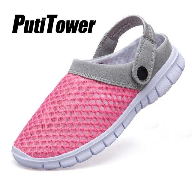 08ac3920 Zapatillas de Mujer Zapatos de playa de verano cómodo jardín zuecos hombres  agua sandalias al aire