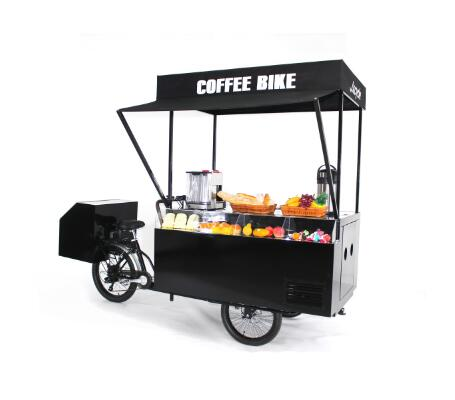 2019 new design mobile food cart bike food truck trailer coffee kiosk with pedal / electric function