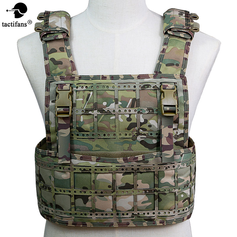 TACTIFANS Men Tactical Vest 1000D Nylon Material Laser-cut Pals Molle System Military Equipment Tactical 9 Different Colors