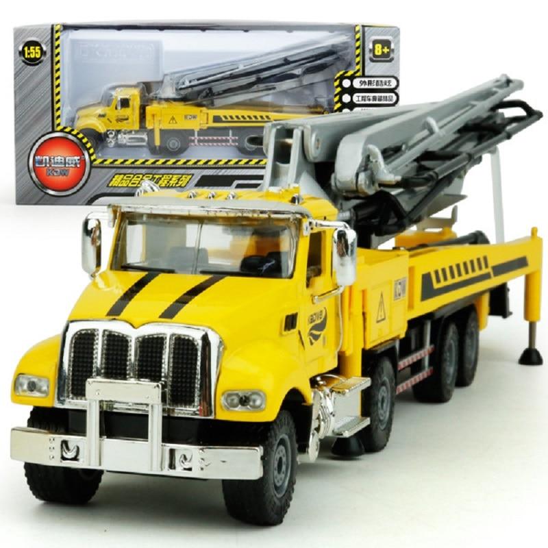 Kids Alloy Die-cast Car Model Construction Truck Concrete Pump Truck Model Vehicle Toy Vehicle 1:55 Gift