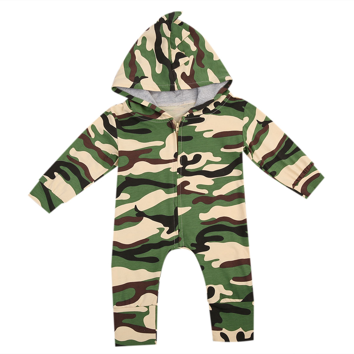 Newborn Kids Baby Boy Girl Infant Cotton Romper Jumpsuit Long Sleeve Cotton Cute Army Green Outfit Clothes newborn infant baby boy girl cotton romper jumpsuit boys girl angel wings long sleeve rompers white gray autumn clothes outfit