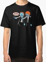 2018 Short Sleeve Cotton T Shirts Man Clothing Mr. Meeseeks Pulp Fiction Parody Mens T Shirt Size S To 3XLHigh Quality T-Shirt