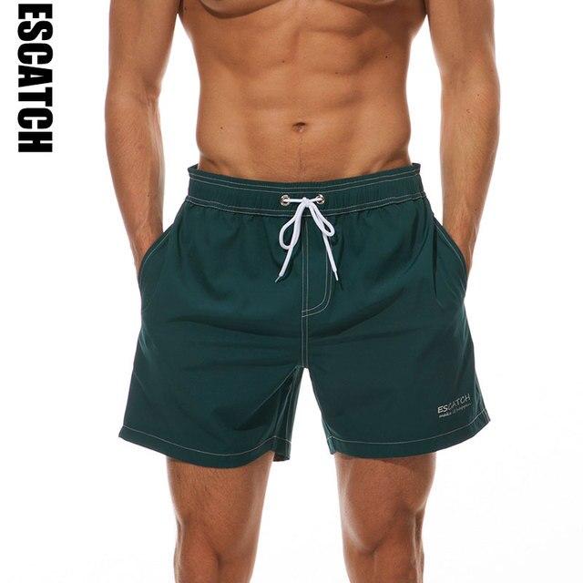 6a2b967917 Escatch Men Four Way Stretch Beach Shorts Swimming Man Swimwear Swim Trunks  Sea Men's Board Shorts Suring Wear plus Size XXL