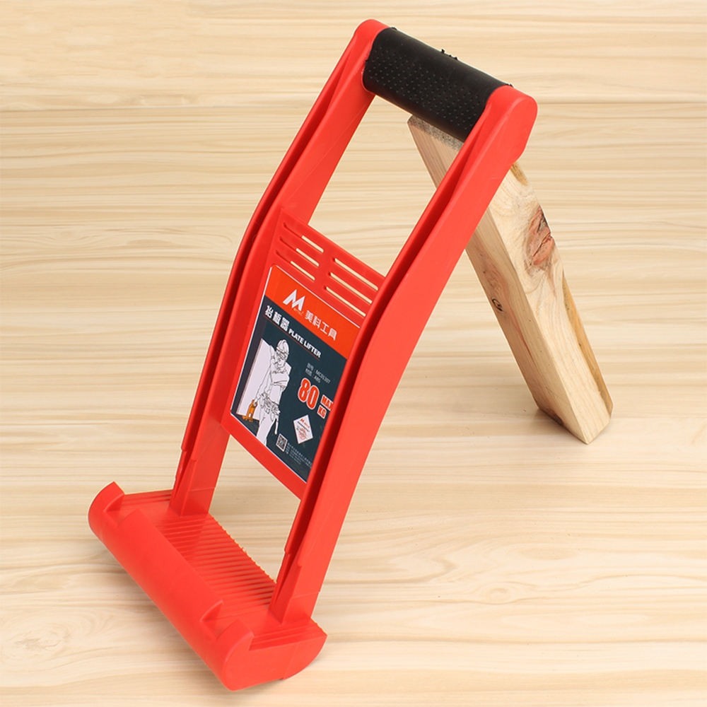High Quality Free shipping ABS Plastic Red Easy-to-Carry Plate Glass Wood Hand Lifter (Max Loading Capacity 80kg) for free shipping 323 sea fuxing 2 glass doors lifter qianmen elevator machine