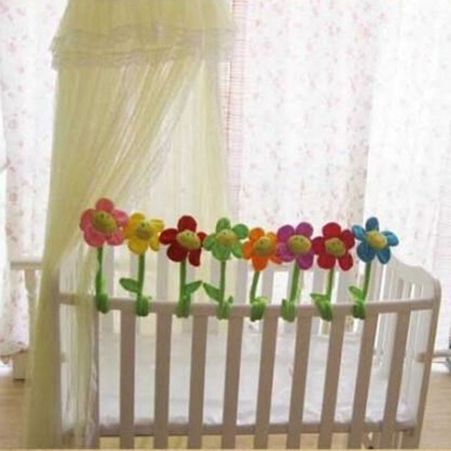Baby Crib 8 Pcs Lot Rose Sun Flowers Stuffed Plants Baby Bed
