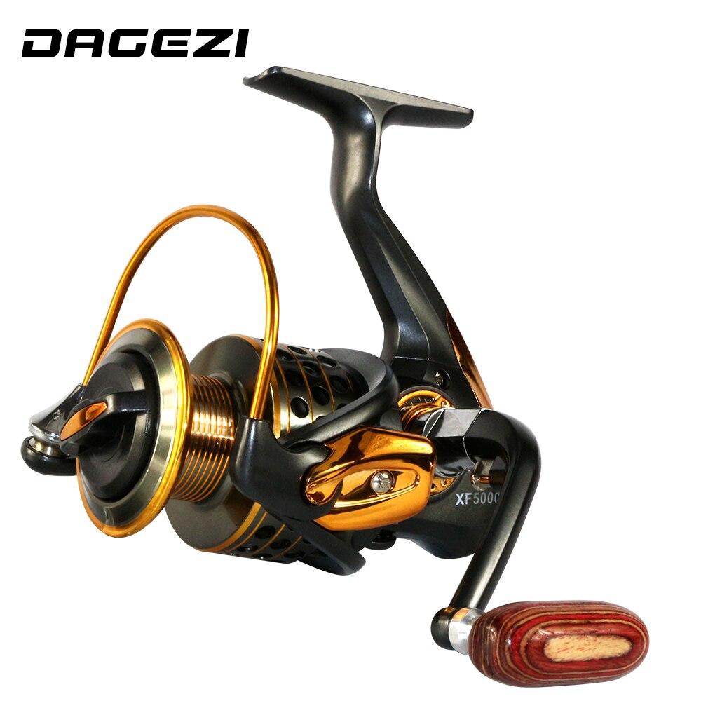 Dagezi 13 1bb spinning fishing reel all metal wood for 13 fishing spinning reels