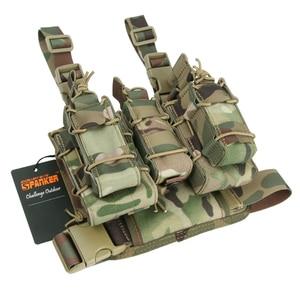 Image 3 - 탁월한 엘리트 스패커 조합 탄약 클립 가방 야외 전술 MOLLE 다리 Holsters 잡지 파우치 군사 사냥 장비