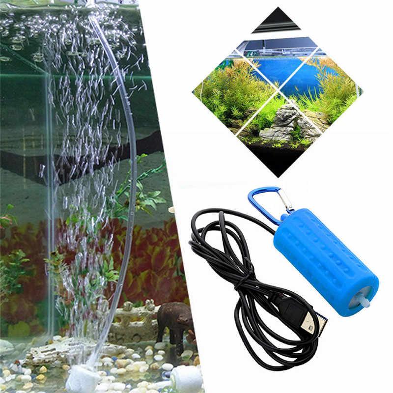 حوض السمك مضخة هواء المحمولة USB مضخة هوائية للأوكسجين كتم توفير الطاقة غير عادية الناتج المائية Terrarium حوض للأسماك الملحقات