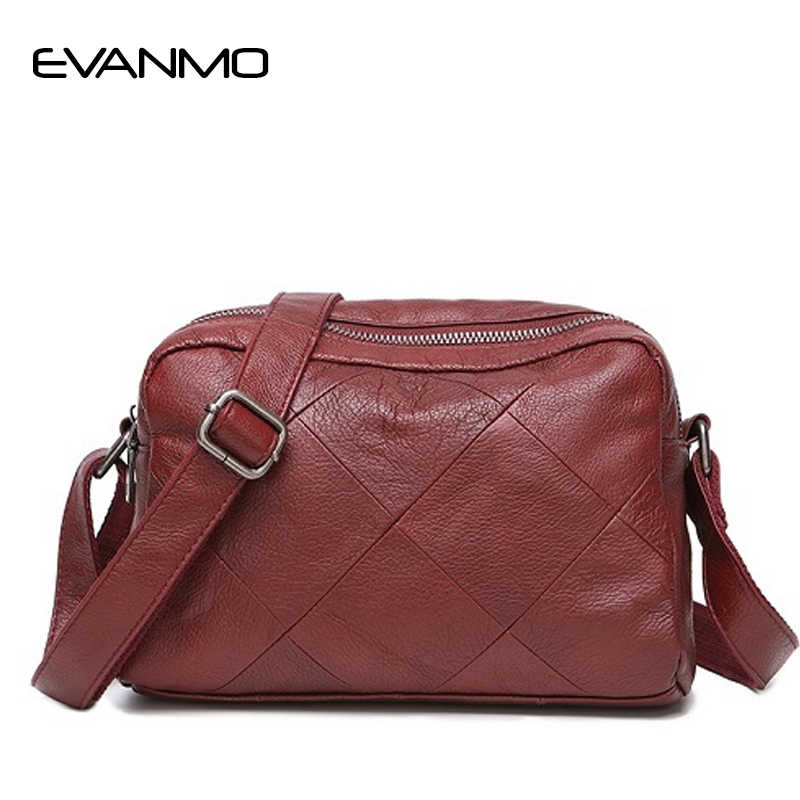 576ee291c785 New Daily Women Genuine Leather Shoulder Bag High Quality Ladies Crossbody  Black Red Blue Grey Shoulder