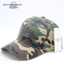 BINGYUANHAOXUAN Fashion Camouflage Baseball Cap Womens Mens Snapback Hip Hop Spring Hats For Men Army Gorras Casquette