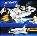 125 unids/set Descubrimiento del Transbordador Espacial Ilumine Ladrillos Bloques de Construcción Bloques de Construcción 3D Modelo de Avión Compatible con Legoe