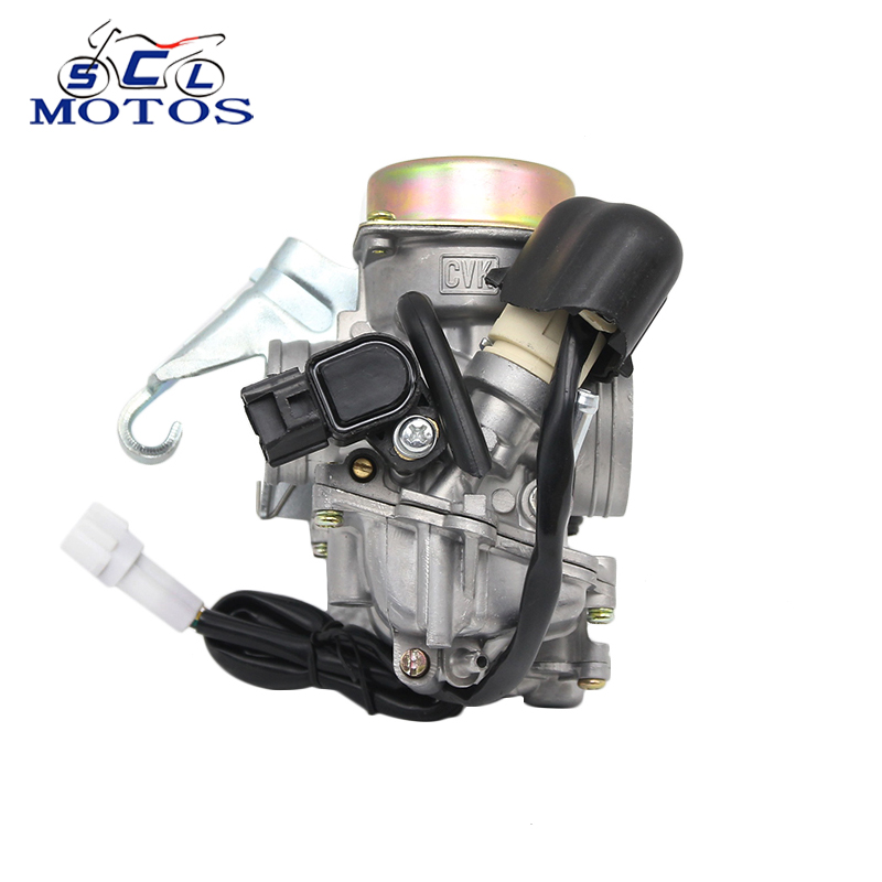 Sclmotos – Motorcycle Modify CVK24 24.5mm Carb Carburetor Electronic Choke Scooter ATV GY6 100 125 150CC Power Racing