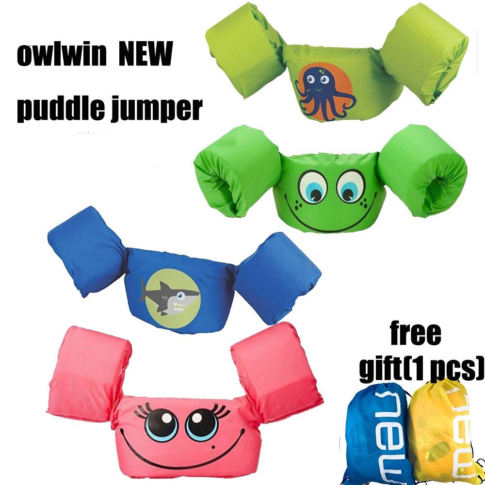Puddle Jumper De Base Vie Veste Enfant vie vétérinaires Pour Natation Sports Nautiques maio feminino praia 2018 bras anneau owlwin nouveau 24 styles