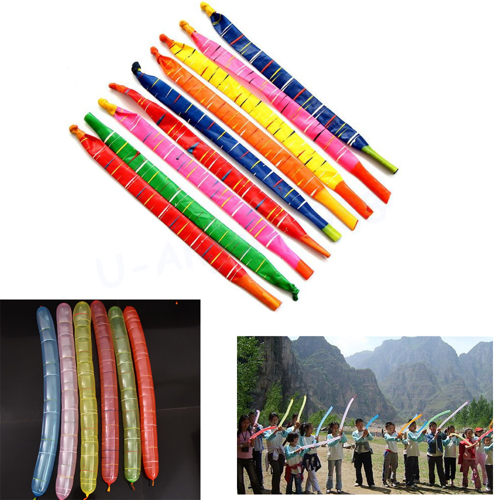 Bulk model rockets wholesale - 100pcs Bag Beautiful Design Assorted Colors Long Rocket Balloons With Plastic Tube Party Fillers Toys