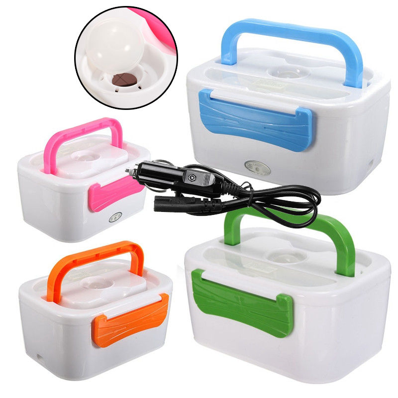 12V Handy Charging Heated Bento Boxes  Electric Outdoor Travel Car Food Warmer Heater Lunch Box for Children Adults