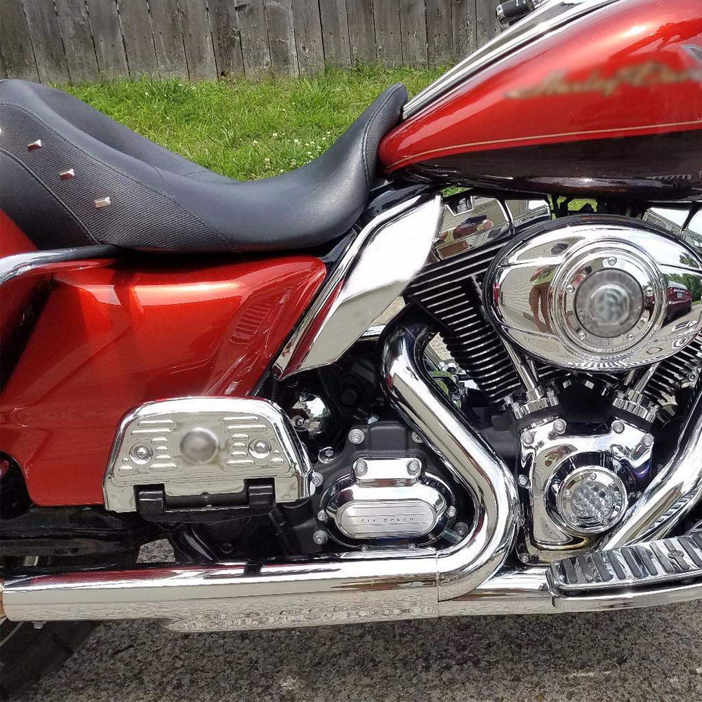 Motorrad Chrome Mid-Rahmen Luft Windabweiser Für Harley Touring ...