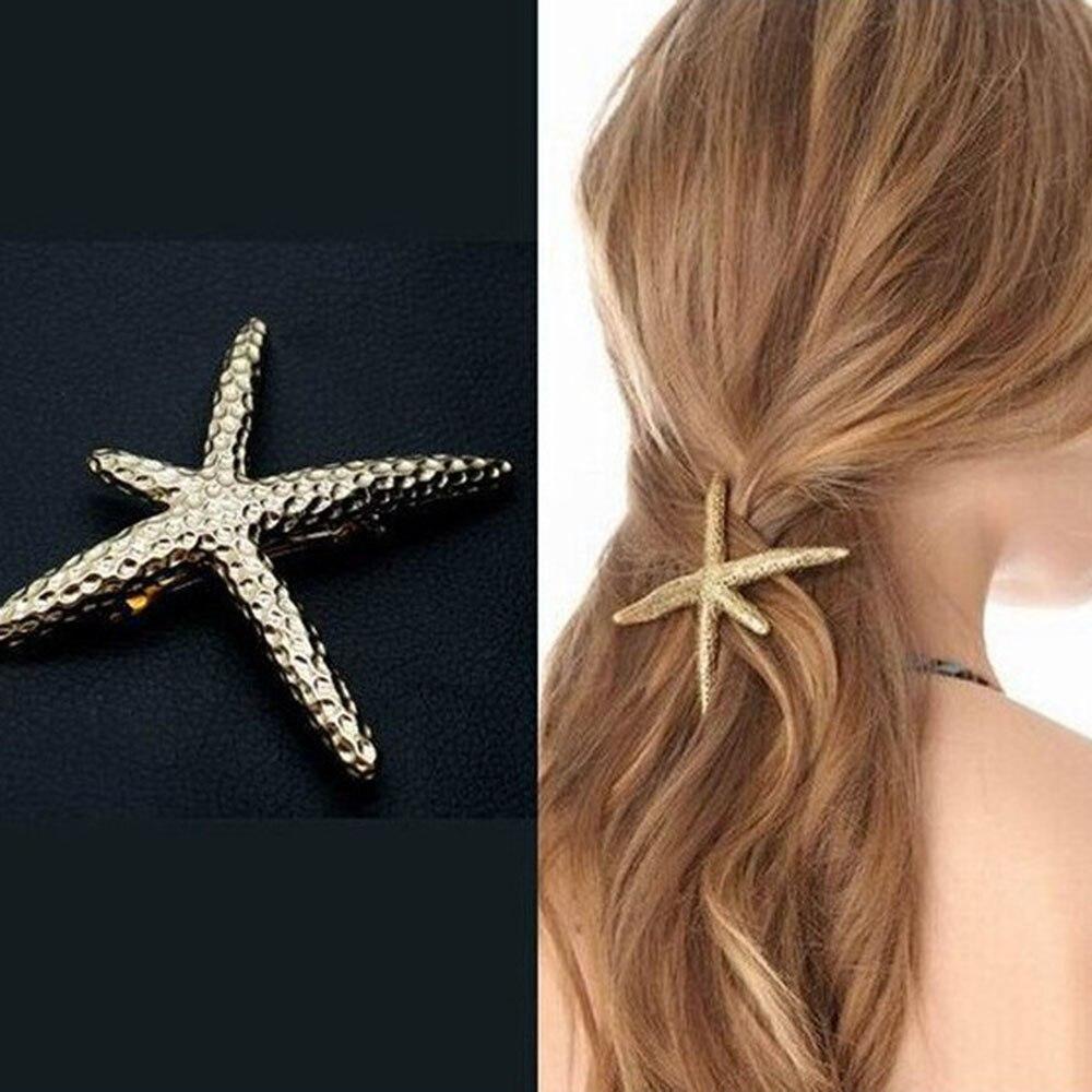 Hot Sale Fashion Women Beach Coral Starfish Hair Clip Barrette Hair Pin Bobby Pin   Headwear   Hair Accessories Free Shipping