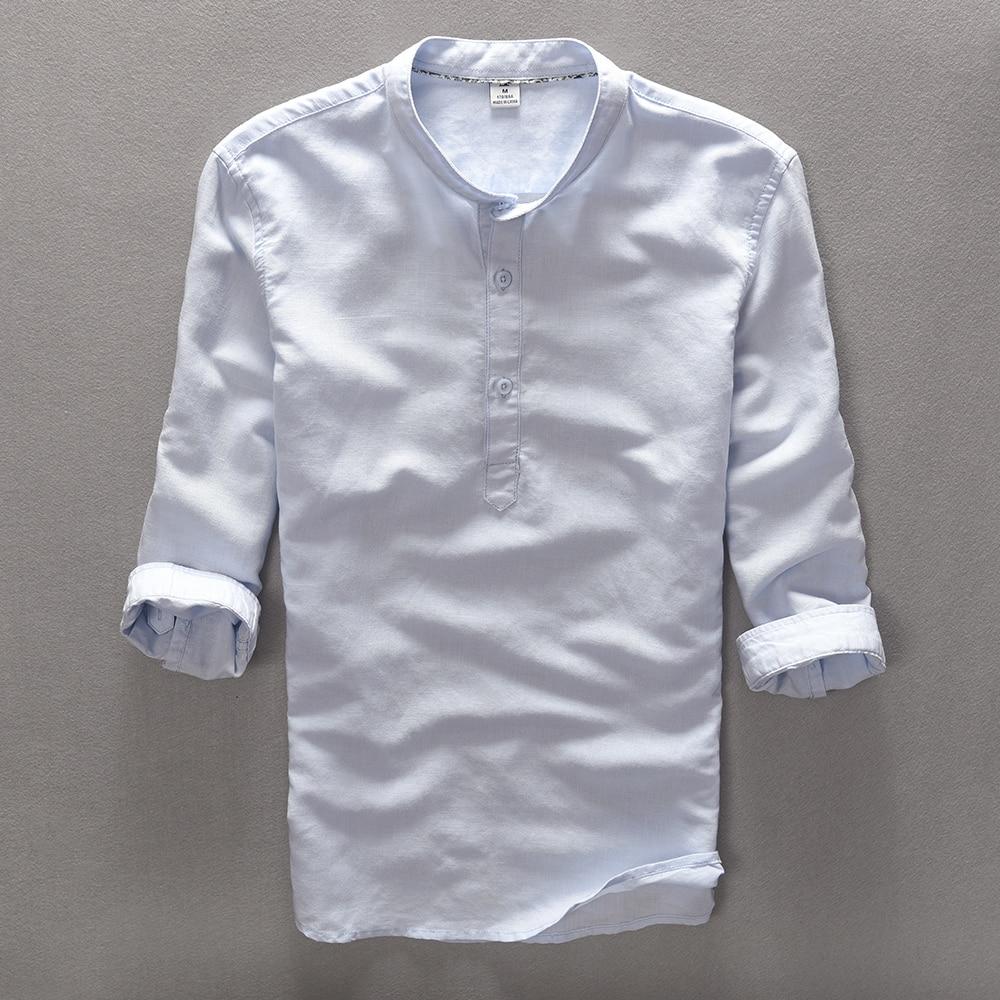 Suehaiwe's New Fashion Brand Herren Shirt Leinen Sommer Shirt Herren - Herrenbekleidung